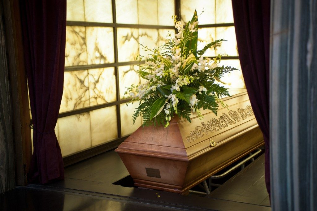 Biodegradable casket to be buried