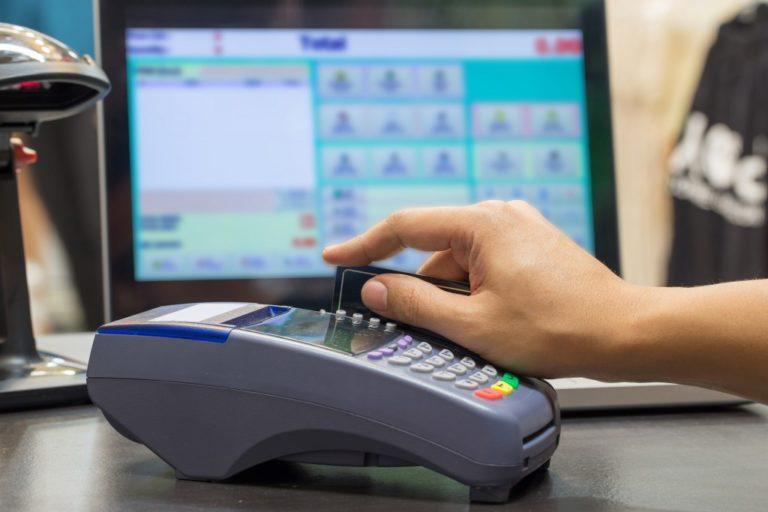 Swiping of credit card