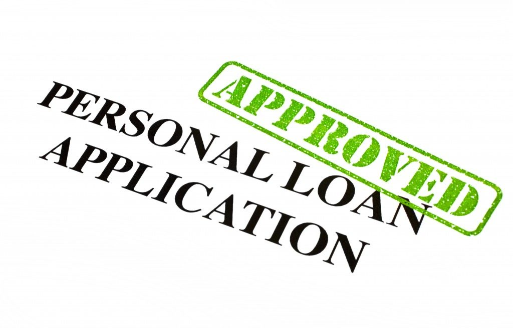 approved personal loan application document