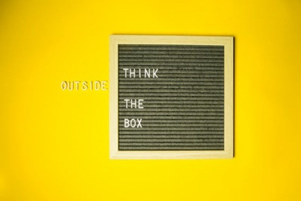 Think Outside The Box concept