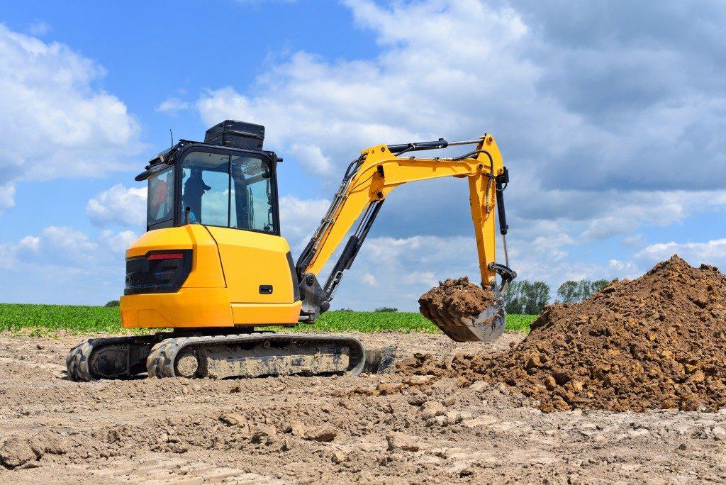 bulldozer digging land