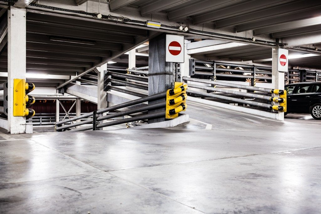 basement parking lot