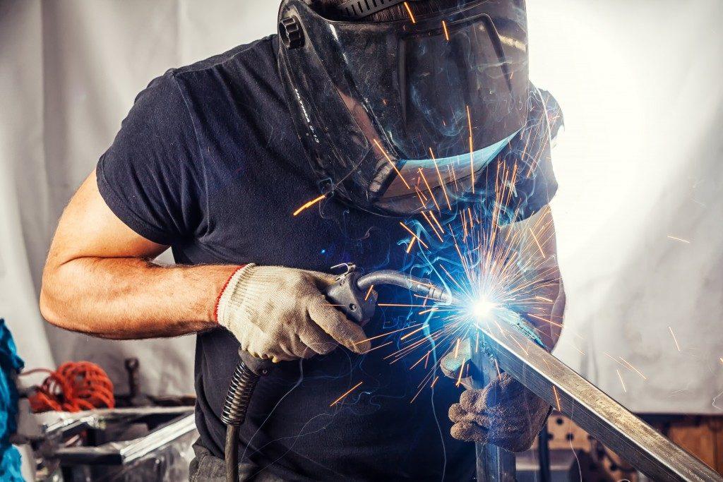 welding metal together