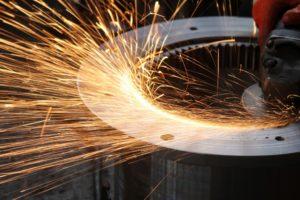 close up of welding metal