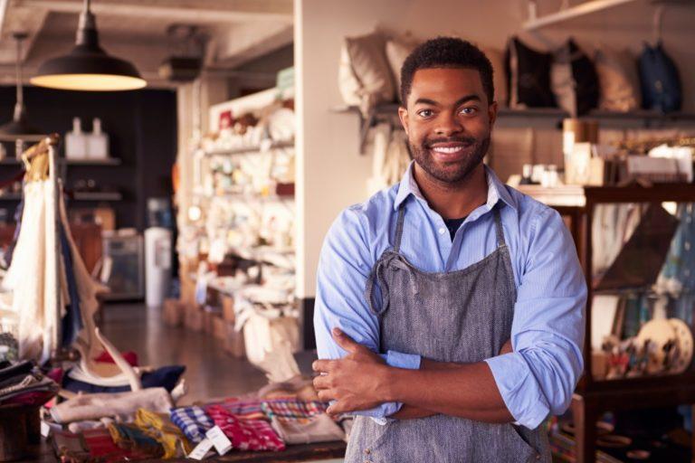 portrait of a shop owner