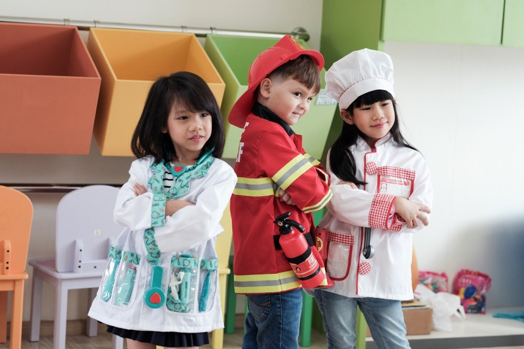 children with costumes
